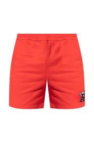 Printed sweat shorts