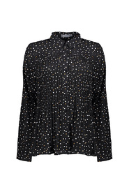 pleated blouse dotted