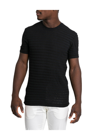 Striped Black V-Neck T-Shirt