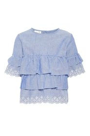 Blouse tiered broderie anglaise