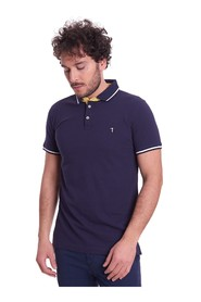 TRUSSARDI REGULAR FIT JEANS POLO SHIRT WITH CONTRASTING STRIP