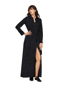 Amina Crepe Maxi Shirt Dress