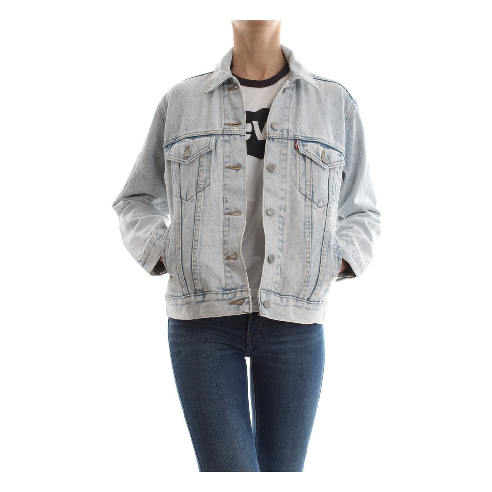LEVIS 29944 EXBOYFRIEND TRUCKER JACKET AND JACKETS Women DENIM LIGHT BLUE