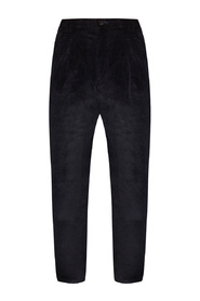 Corduroy trousers with logo