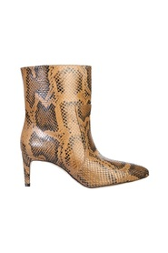 ANKLE BOOTS WITH PYTHON PRINT