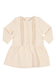Scalloped edge cotton dress