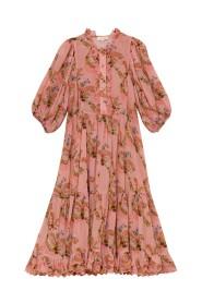 Dobby Midi Dress