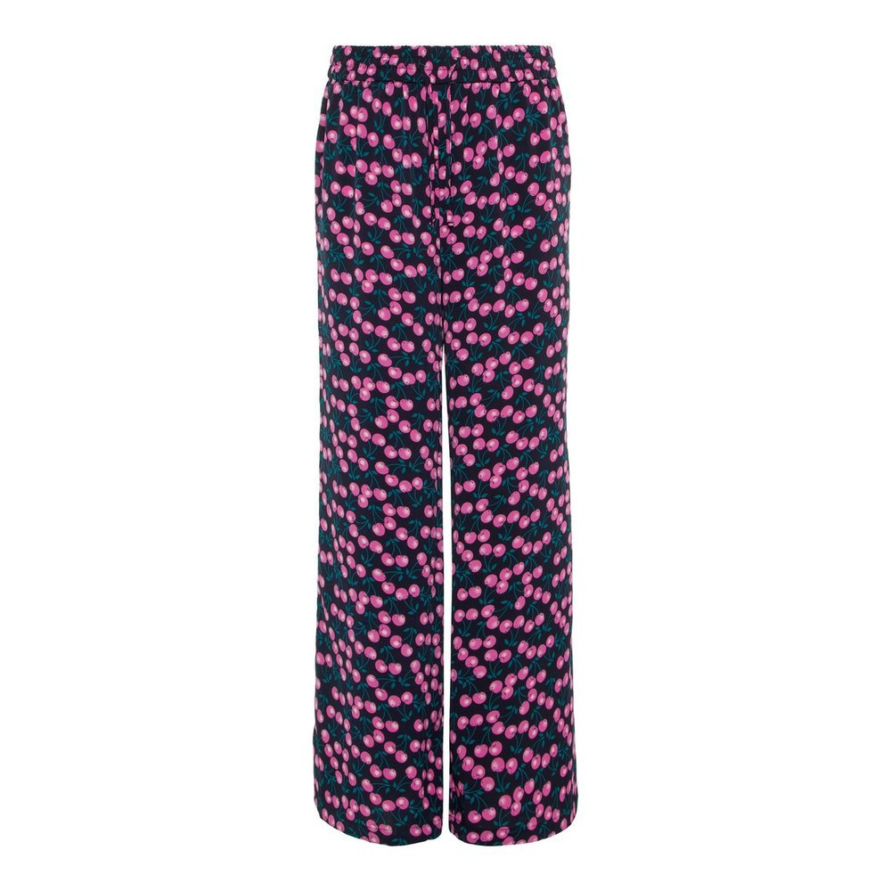 Wide-leg trousers berry printed