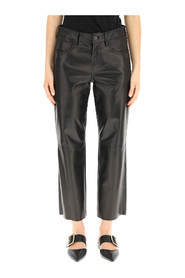 cropped five pocket trousers