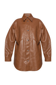 Jacket from vegan leather
