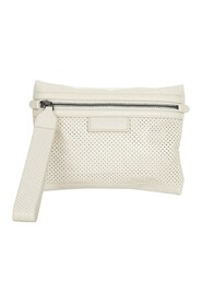 Pre-owned Perforated Leather Pouch