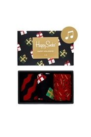 Mønster Happy Socks Singing Retro Holiday Gift Box Tilbehør