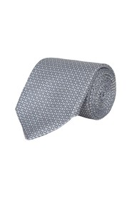 Silk tie with a dot pattern