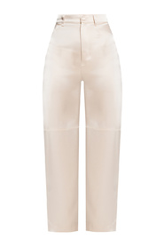 Trousers with raw edge