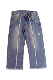 REGULAR JEANS WITH FITTED HEMS AND ANKLE PRINT