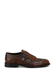 Monk strap in leather