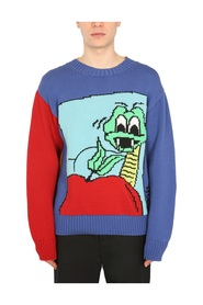 SWEATER WITH SNAKE INLAY