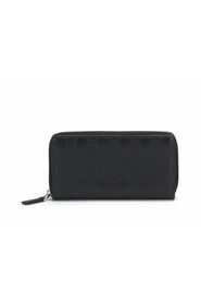 Pre-owned Guccissima Signature Long Wallet in black
