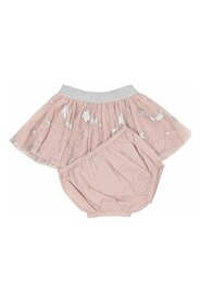 Stars print tulle skirt with diaper cover