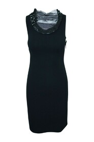 Shift Dress With Faux Pearls -Pre Owned Condition Very Good
