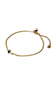 Half Moon Bracelet, gold plated sterling silver