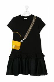 Bag Print Short Sleeved Dress