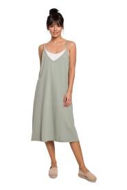 Sukienka warstwowa na ramiączkach
