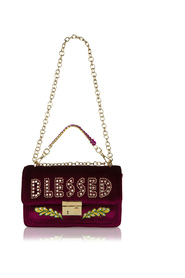 Giulietta velvet shoulder bag