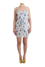 Beachwear Floral Beach Mini Dress Short