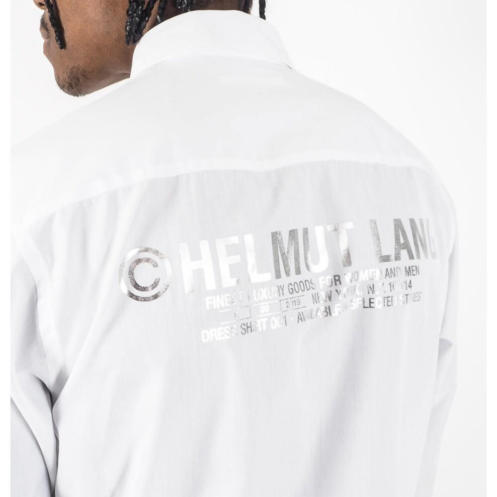 White Shirt Print | Helmut Lang | Zakelijke Overhemden | Herenkleding