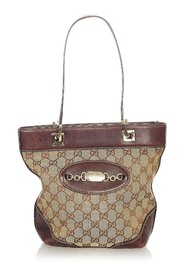 Pre-owned GG Canvas Punch Tote Bag