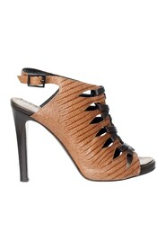 pre-owned Tie Up Leather Booties