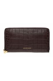 Croc Embossed Continental Zip Wallet