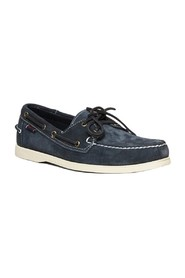 Portland suede leather boat shoes