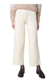 Pantaloni crop a zampa