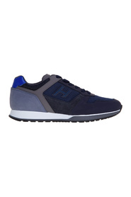 H321 sneaker in leather and technical fabric