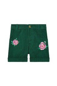 Cord Embroided Short Daywear Trousers