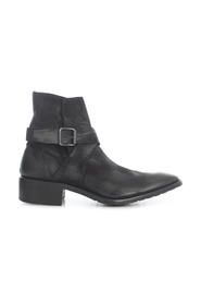 SUEDE ANKLE BOOTS W/SIDE BUCKLE