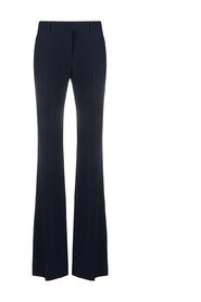 Narrow bootcut trousers in blue