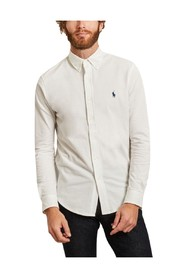 cotton pique shirt white