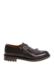 Loafer leather single strap