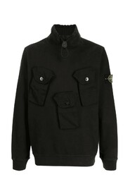 Brushed Cotton Fleece Half-zipper Sweatshirt