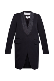 Long blazer with stitching details