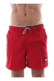 TOMMY HILFIGER UM0UM01120 SHORT DRAWSTRING swimsuit  sea and pool Men RED