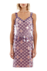 Blomster paillettes top