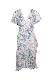 20to Wrap dress flower Wit