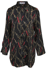 Blouse met kettingprint