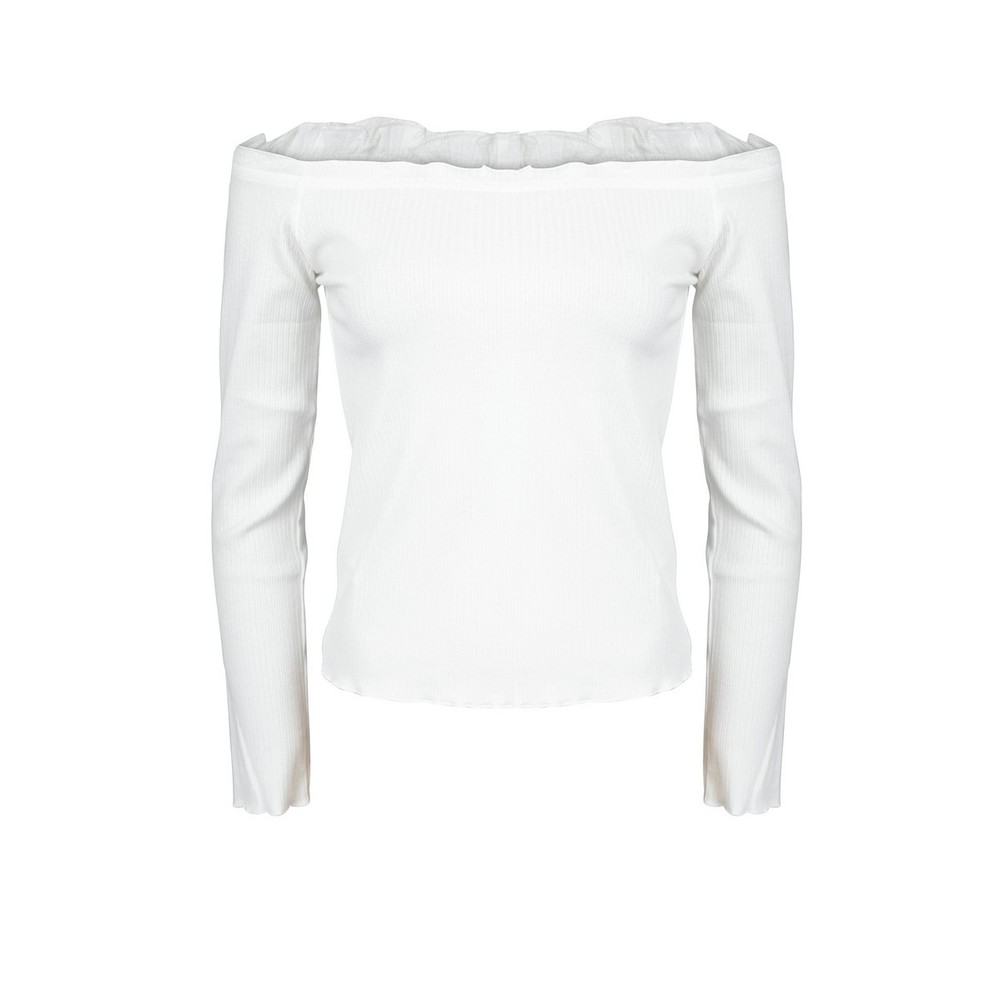 24Colours cropp top off white