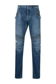 Ribbed Tapered Jeans