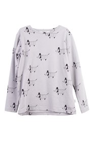 KNAST by KRUTTER - Origami Dog Tee LS - Grey